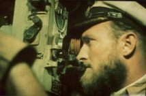 Robert Gysae inside the u-boat.