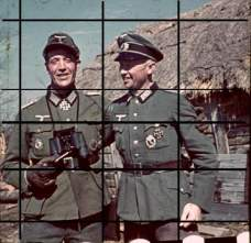 Josef Heindl (left) as Führer of Grenadier-Regiment 199 'List'.
