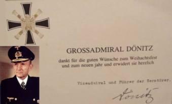 Card featuring Grand Admiral Karl Dönitz.