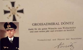 Card featuring Grand Admiral Karl Dönitz.