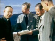 Karl Wolff (3rd from left) with Heinrich Himmler, Reinhard Heydrich and unidentified assistant at Obersalzberg, May 1939.