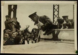 Hitler crosses the border into Austria in March 1938.