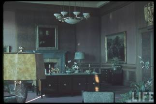 Adolf Hitler's office in the Führerbau, site of Münich conference.