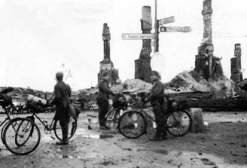 The village of Ivalo destroyed by Germans during the Lapland War.