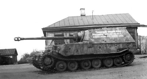 Captured Elephant by the Russians and in service for them.