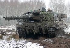 Kampfpanzer Leopard 2.A6 im Gefecht.