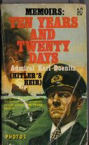 Cover of the first edition of Dönitz's memoirs in English, Ten Years and Twenty Days (1958).