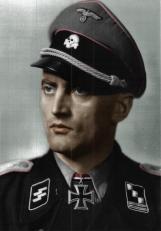 Ludwig Kepplinger as SS-Hauptsturmführer.