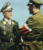 Ernst Kupfer (left) and Reichsminister Albert Speer.