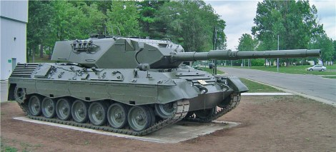Leopard 1A3 (Canadian Leopard C1) at the Base Borden Military Museum.