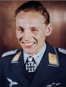 Erich Hartmann as Leutnant and Eichenlaubträger.