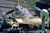A Bf 110 G-4 night fighter at the RAF Museum in London.