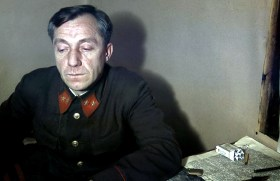 Major-General Vladimir Kirpichnikov with a packet of Chesterfield cigarettes at the Kyöliö officers' prison in November 1943. He was the only prisoner of general rank that the Finns captured during the wars. Kirpichnikov was captured by the Finns near the city of Viborg on 1 September 1941.