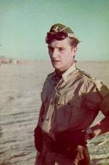 Hans-Joachim Marseille in the African desert.