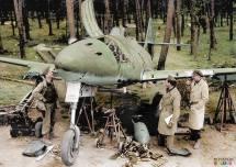Messerschmitt Me 262 A-1 of IKG 51 after the war.