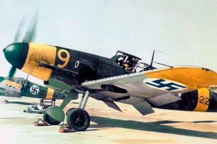 Finnish Messerschmitt Bf 109 G-2s during the Continuation War.
