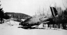 Norwegian Gladiator 427 brought down by Helmt Lent on 9 April 1940.