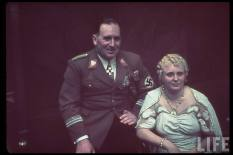 Oberbürgermeister Willy Liebel of Nürnberg with his wife at party reception at Führerbau, 25 February 1939.