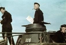 Richard Koll on board his command panzer.