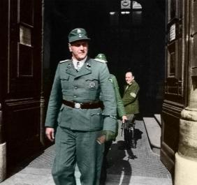 Otto Skorzeny in Budapest 1945.