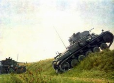 Panzer 38(t) and Panzer II on the move.