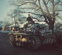 Panzer III with snow color camouflage.