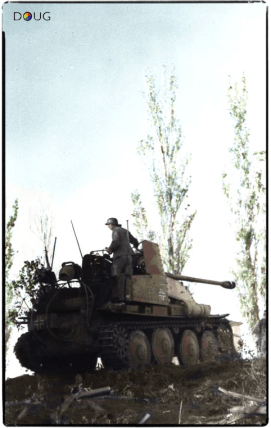 Panzerjäger Marder III Sd.Kfz.139 of 24th Panzer Division near Stalingrad. June 1942.