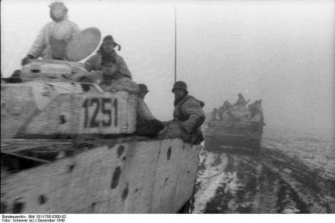 White washed Panzer IVs, December 1943.