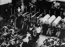 Funeral of Czech victims in Sokolov, including 4 Gendarme officers murdered in Habartov.