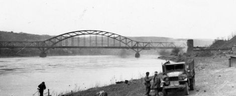 The Ludendorff Bridge after its capture.