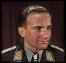 Hans-Ulrich Rudel wearing Schwertern.