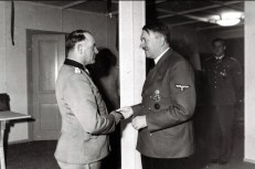Sepp Dietrich receiving Brillanten from Hitler.