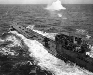 U-848 under attack from a very low flying aircraft.