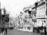 Main street in Aš, where SdP's leadership met on 13 September 1938 before fleeing to Germany.