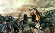 U.S. Army illustration of the battle for the bridge.