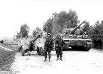 Tiger of Großdeutschland and Captured Soviet Anti-Tank Guns, August 1944.