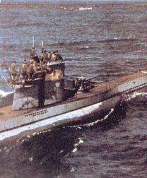 U-boat crews above their beloved sub.