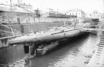 Dry docking of the U-37 in 1940.