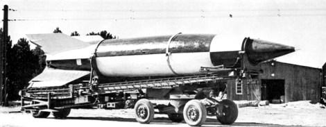Operation Backfire V-2 rocket on Meillerwagen.