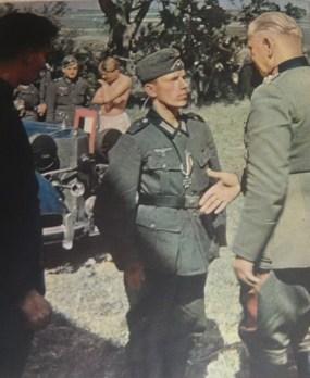 Walther von Reichenau in an Iron Cross award ceremony.