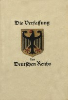 Cover of the Weimar Constitution.