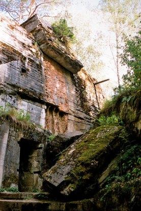 Entrance to the Führer Bunker at the Wolfsschanze.