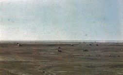 """German war machines in the North African desert. The picture was taken by General Erwin Rommel, commander of the Afrikakorps, from his Fieseler Fi 156 """"Storch"""" during his reconnaisance mission to the front."""