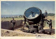 Large searchlight on the Channel coast.