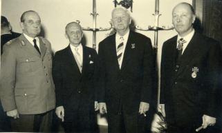 Veterans Hasso von Manteuffel, Erich von Manstein and Horst Niemack.