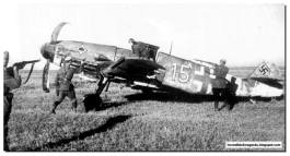 Messerschmitt BF 109 pilot force landed in Stalingrad due to engine failure was arrested by the Russians. September 8, 1942.