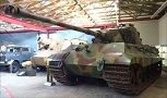 Königstiger, Royaltiger, Panzerkampfwagn VI Ausf. B Tiger II, German Tank Museum in the military town of Munster, Germany.