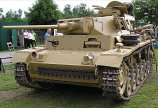 """Panzer III Ausf. J tank number 7 is in private ownership and is often seen at military vehicle events in the summer in Britain like the annual """"War and Peace"""" Show in Folkstone."""