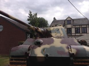 King Tiger 213 during an event at December 44 Historical Museum - La Gleize, Belgium.