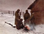 Japanese soldiers in guard duty, North China winter 1938